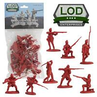 BARZSO LOD American Revolution British Light Infantry 16 Toy Soldiers FREE SHIP