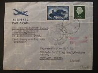 1958 Amsterdam Netherlands to Cauo-Ku Tokyo Japan Airmail First Flight Cover