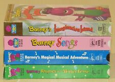Lot of 4 VHS tapes - Barney's Imagination Island, 50+ Songs, Rhymes, Magical