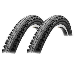 "PAIR - Sunlite K847 Kross Plus Tires 26x1.95 Black Hybrid MTB 26"" x 1.95"" Bike"