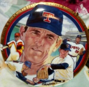 The Hamilton Collection~The Best Of Baseball Plate Collection~Nolan Ryan