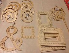 Creatology Wood Frames - Simply Surfaces 23 Item Lot Of Wood Crafts
