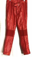 Vintage 1980s Beconta Mens Size L Ski Red Pants Retro Zip Belted Snow Puffer Euc