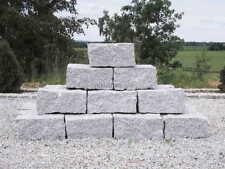 Granit-Mauersteine Trockenmauer Gartenmauer Granitsteine 21 Stk. 20x20x40 cm