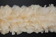 "2 Yard Feather TURKEY BOA - BONE 6-8"" Feathers (Hats/Halloween/Costume/Bridal)"