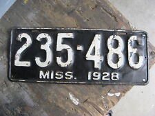 1928 28 MISSISSIPPI MS LICENSE PLATE #235-486 AMAZING CONDITON