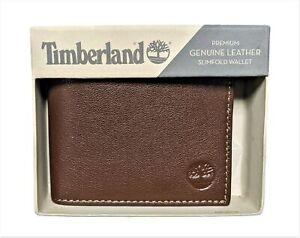 Timberland Men's Premium Genuine Leather Slimfold Wallet
