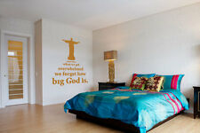 Sometimes We Forget How Big God is - Highest Quality Wall Decal Sticker