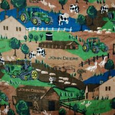 BonEful FABRIC Fleece Blanket L Quilt 50X60 Scenic Throw John Deere Farm Tractor