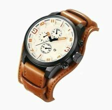 MILITARY GRADE WATCH FOR MEN SPORT OUTDOOR FASHION LEATHER ANALOG US SELLER