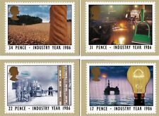 Royal Mail Stamp Postcards PHQ 89 Industry Year 1986 Complete