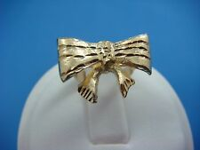 !CUTE 14K YELLOW GOLD BOW LADIES-GIRL`S RING, 5 RAMS FIT LADIES SIZE 3-5