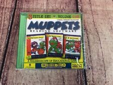 New Sealed Muppets Reading Software 3 Title Set Volume One Pc Cd Rom Kids 2-5