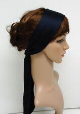 Navy blue hair scarf, long head scarf, hair tie, headband, bandanna, hairscarf