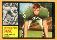 1962 Topps Football # 125B R. Pete Case (EX) Lot 701 -- Philadellphia Eagles