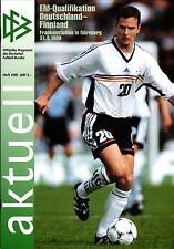 Em-qu. 31.03.1999 DFB-actualmente 1/1999 alemania-finlandia en Nuremberg