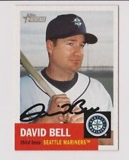 2002 Topps Heritage David Bell Seattle Mariners Autographed Card