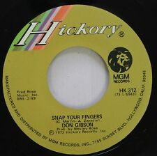 Country 45 Don Gibson - Snap Your Fingers / Love Is A Lonesome Thing On Mgm