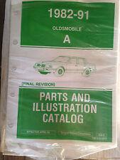 1982 83 84 85 86 87 88 89 90 91 OLDS Cutlass Ciera Parts/Ilustrations Book PO67.