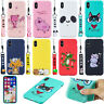 Cute 3D Strap + Patterned Silicone Rubber Soft Back Lot Case Cover Bumper Ultra