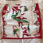 Mid Century Christmas Apron Vintage Santa Ornaments Kitchen Holiday Baking