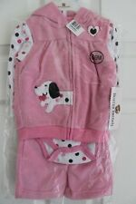 Buster Brown Infant Pink White Polka Dot Dog Vest 3 Piece Outfit 6-9 Months NWT