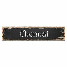 SP0195 Chennai Street Sign Bar Store Shop Pub Cafe Home Room Chic Decor