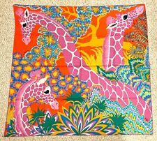 BNIB! Hermes Scarf Shawl 140cm Cashmere The Three Graces Orange/Turquoise/Vert