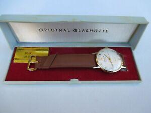 Vintage mens automatic wrist watch GLASHUTTE SPEZIMATIC CAL.74 26 RUBIS BOX  DDR
