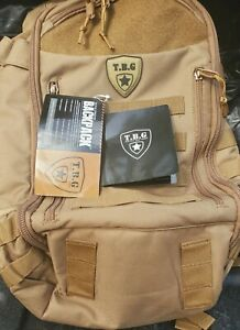 TBG - Mens Tactical Diaper Bag Backpack w/Built-in Changing Mat, see description