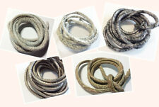 6mm 1m Öko Leder Lederband Imitat Textilband metallic Reptil