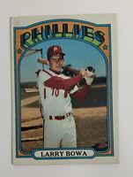1972 Topps Larry Bowa # 520 Baseball Card Philadelphia Phillies