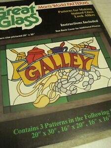 Book GREAT GLASS Plaid Man's World Patterns Stained Glass Look Alikes Craft