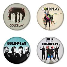 Coldplay - 4 chapas, pin, badge, button
