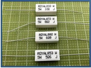 3pz Resistenza 3,9 Ohm 5W Resistore Resistenza Ceramica a Filo 5/%