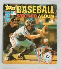 1982 Topps Baseball Sticker Album Book Almost Complete