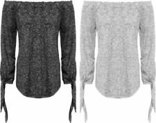 Regular Size Viscose Solid Knit Tops for Women
