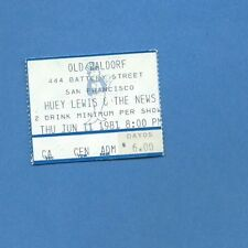 Huey Lewis and the News Used Concert Ticket  June 11, 1981 (10th Concert!)