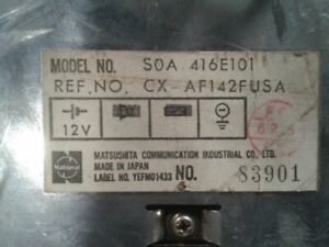 Audio Equipment Radio 3 Door VIN G 5th Digit Lftbk Fits 86 SUBARU PASS. 577579