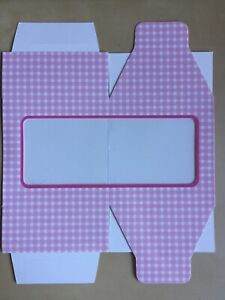 x6 pink gingham inidividual cupcake boxes - baby shower - new baby - party