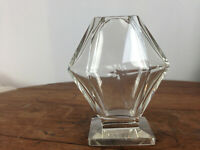 "Vintage Baccarat Crystal Glass Vase 4.25"" Tall #UB-2"
