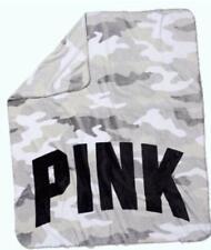 Victoria's Secret PINK Camo Camouflage Soft Fleece Blanket Throw Great Gift New