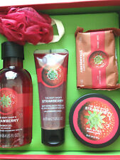 The Body Shop Gift Set Strawberry Body Butter, Polish, Shower Gel, Soap & Lofa