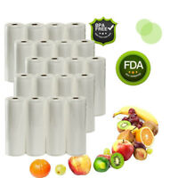 "20 Rolls 11""X50' Embossed Vacuum Sealer Bag For Food Saver Commercial Grade 4mil"