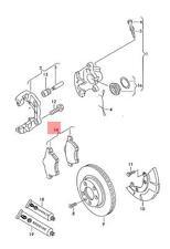 Genuine 1 set brake pads with wear indicator for disc brake front 1J0698151M