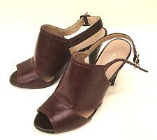NEW woman shoes,  M&S AUTOGRAPH UK 3.5,  Brown Leather slingback sandal shoes