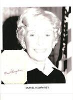 Muriel Humphrey Autograph Senator Minnesota Second Lady Hubert Huron U #2