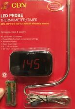 CDN Digital LED Probe Thermometer/Timer