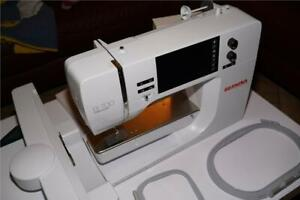 Bernina B700 embroidery machine including embroidery module, spool holder,access