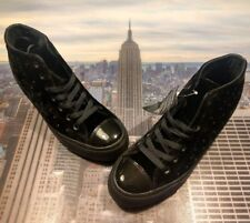 6ee147cbb448c7 Converse Womens Chuck Taylor All Star Lux Mid Top Wedge Black Size 8  558975c New